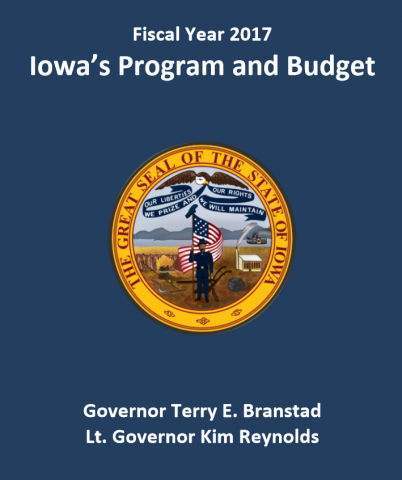 FY 2017 Iowa's Program and Budget Cover