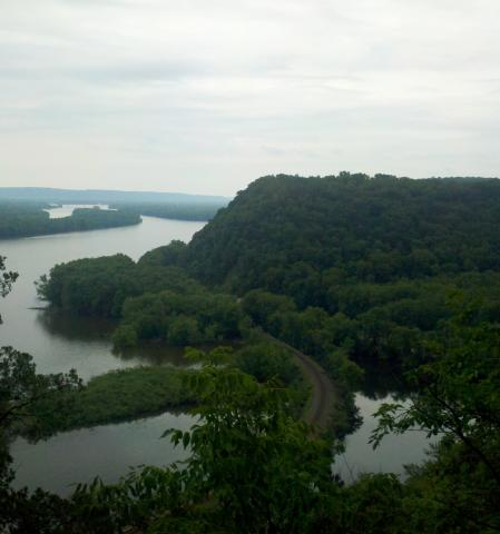 Mississippi River from Effigy Mounds National Monument